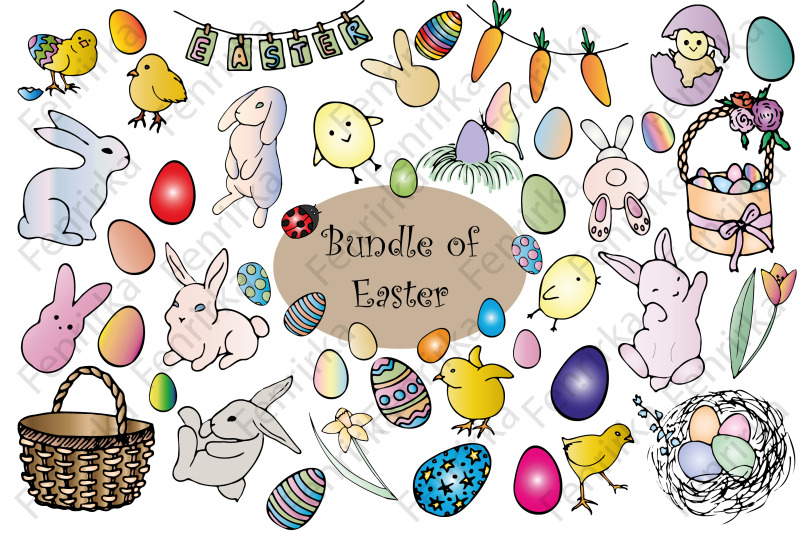 large-bundle-of-easter-color-hand-draw