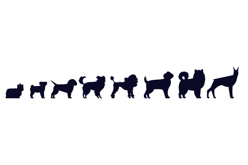 dogs-breed-silhouettes-pedigree-puppies-as-doberman-and-malamut