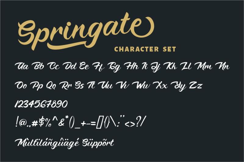 springate-modern-script-font