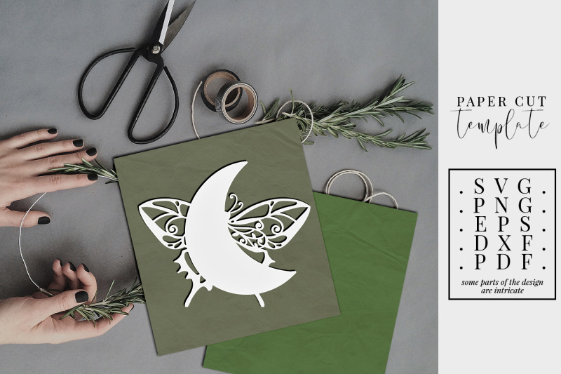 crescent-moon-4-papercut-template-butterfly-paper-cut-svg-dxf-pdf