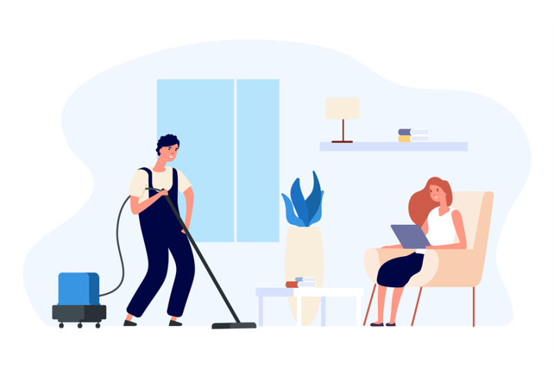 man-vacuums-man-cleans-house-illustration-happy-flat-couple-daily-r