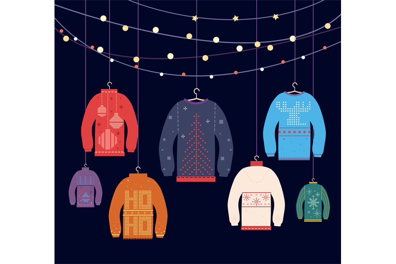 ugly-sweater-christmas-sweaters-with-different-cute-prints-and-orname