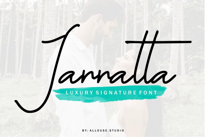 jannatta-luxury-signature-font