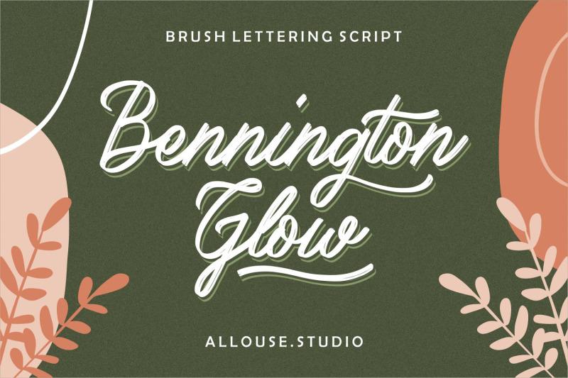 bennington-glow-brush-lettering-script