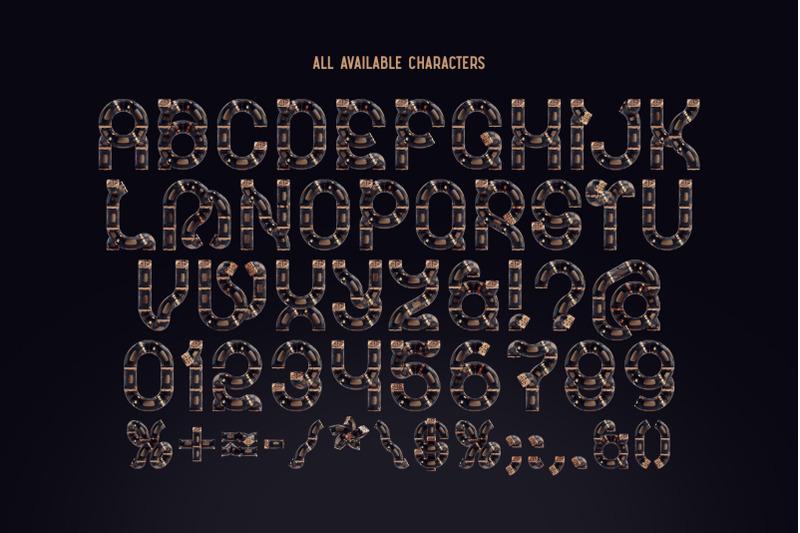 pipeline-color-bitmap-font