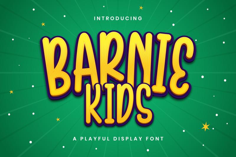 barnie-kids-playful-display-font