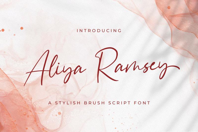 aliya-ramsey-handwritten-font