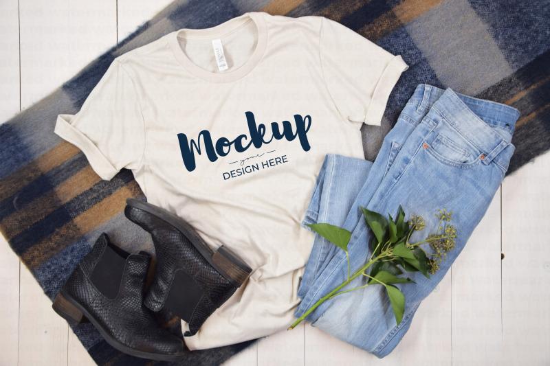 Download Beige Fall T-Shirt Mockup Free Mockups