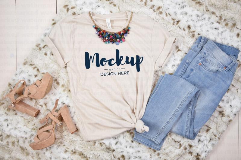 Download Beige Party T-Shirt Mockup Free Mockups