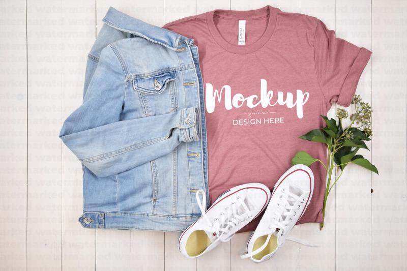 Download Casual Pink T-Shirt Mockup Free Mockups