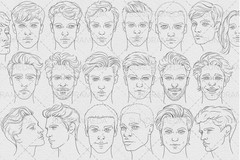 20-face-men-stamp-brushes-procreate
