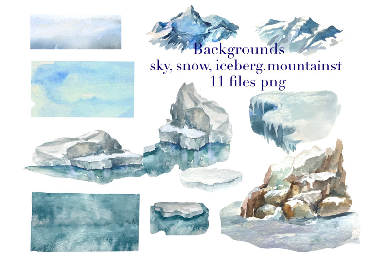 arctic-animals-and-birds-watercolor-clipart-northern-animals