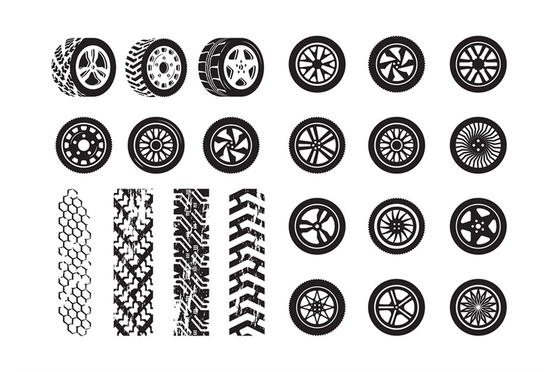 tire-texture-car-wheel-rubber-tires-picture-silhouettes-vector-templa
