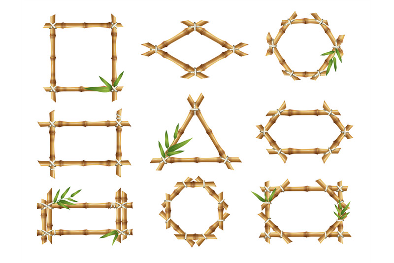 bamboo-frames-geometric-forms-of-nature-bamboo-rustic-plants-tropical