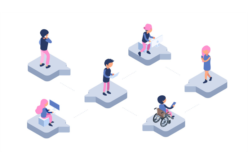 online-chat-modern-communication-web-isometric-people-with-gadgets-c