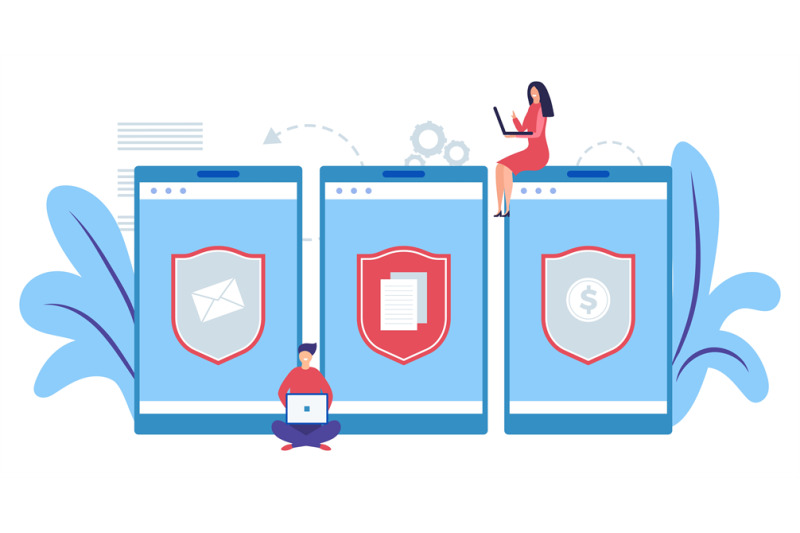 mobile-data-protection-concept-internet-security-concept-protect-inf