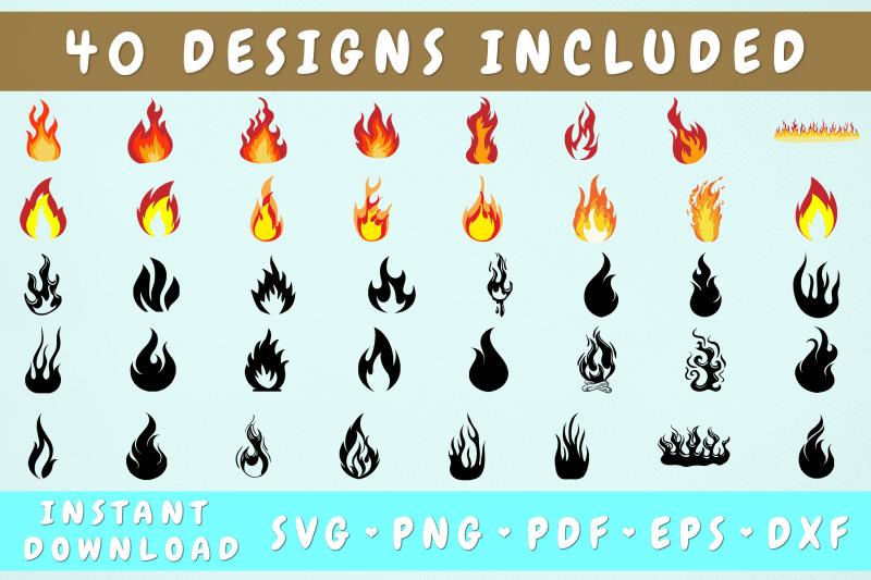 fire-svg-bundle-40-designs-flames-svg-cricut-cut-files