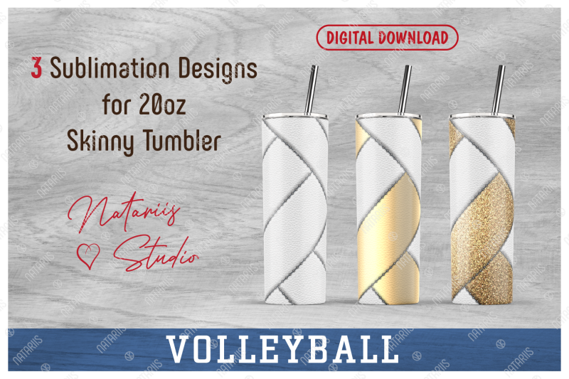 3-volleyball-patterns-for-20oz-skinny-tumbler