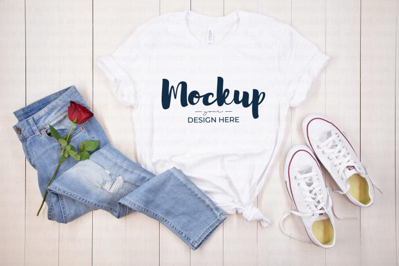 Download Valentine Shirt Mockup, White Free Mockups