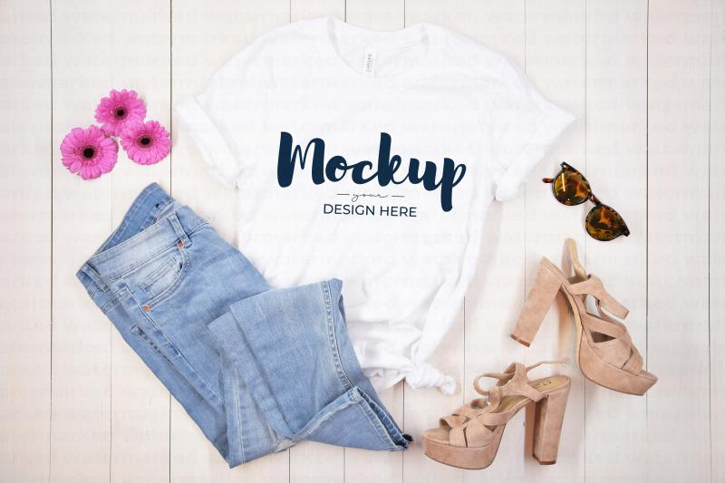 Download White Bachelorette Party Shirt Mockup Free Mockups