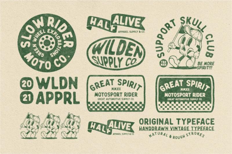 wilden-handdrawn-vintage-typeface