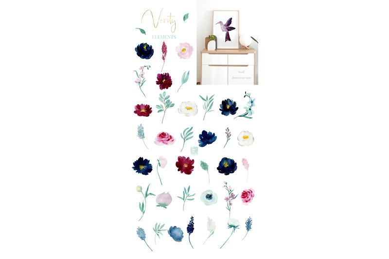 burgundy-navy-jade-watercolor-flowers-verity