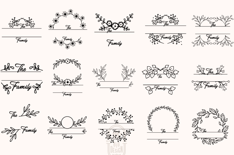 monogram-family-sign-bundle-15-farmhouse-sign-svgs