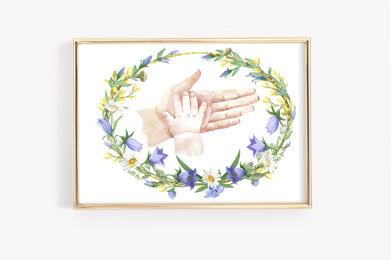 hands-of-mom-and-baby-in-a-floral-frame-mom-gif-mothers-day