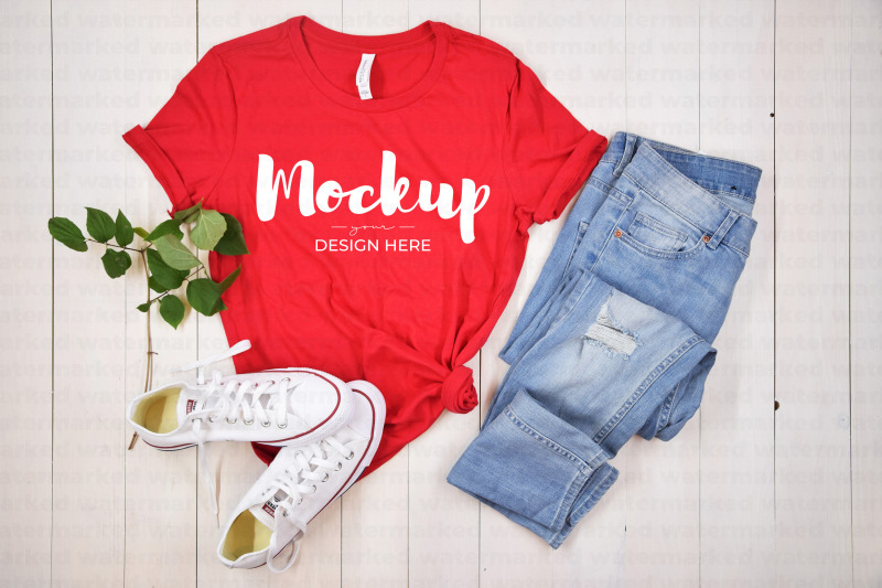 red-t-shirt-mockup-bella-canvas-6400
