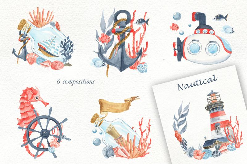 marine-set-watercolor