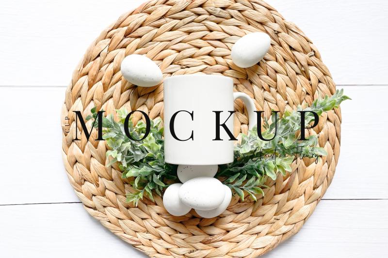 Download Minimal Easter Eggs Mug Mockup Farmhouse - Easter Mockup Free Mockups