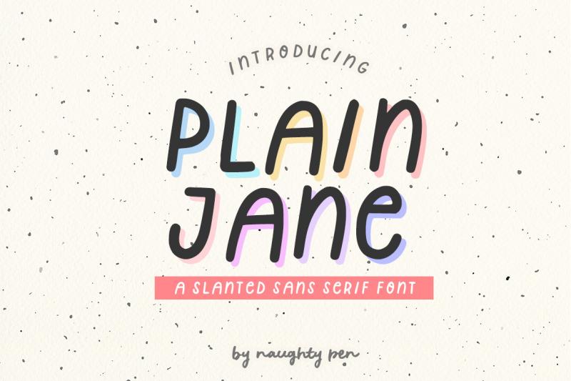 plain-jane-a-cute-slanted-sans-serif-font