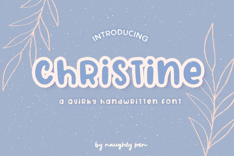 christine-a-quirky-handwritten-font