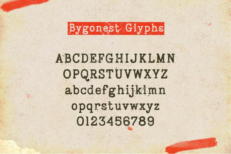 bygonest-old-typewriter-font