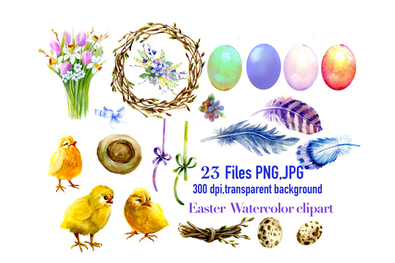 easter-watercolor-clipart-easter-chick