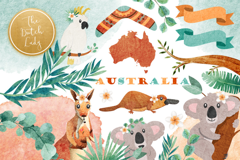 australian-friends-clipart-set