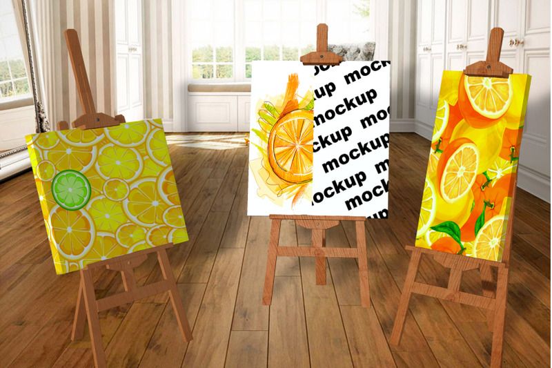 mockup-canvases-on-easels