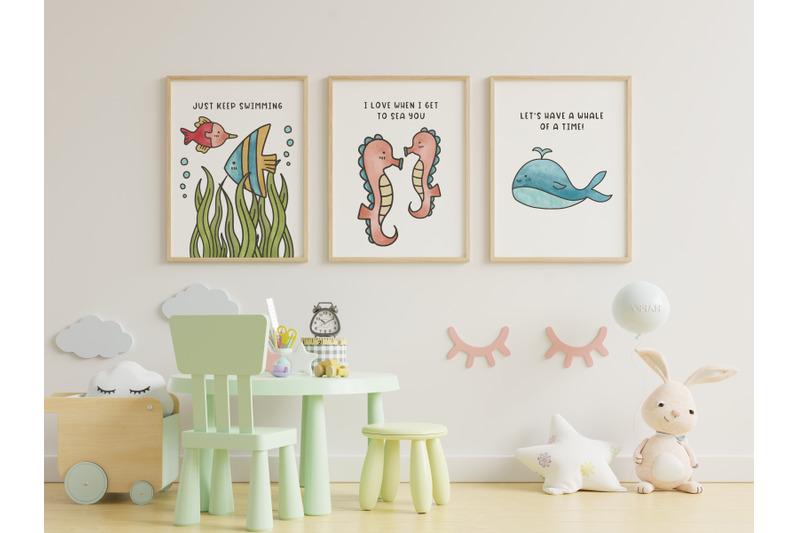 sea-friends-cute-doodle-clipart