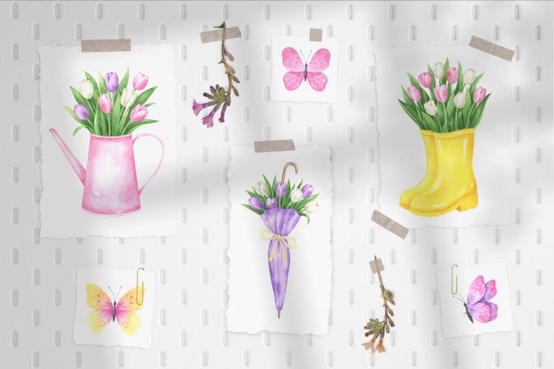 hello-spring-watercolor-collection