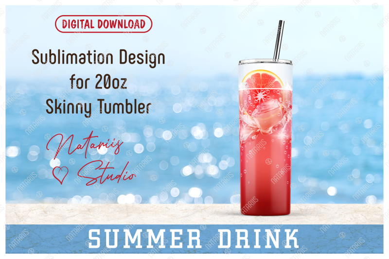 realistic-drink-pattern-for-20oz-skinny-tumbler