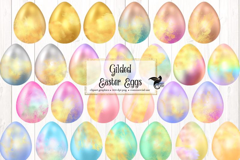 gilded-easter-eggs-clipart
