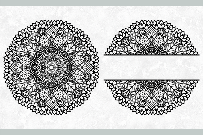 leaves-mandala-intricate-svg-monogram-split-half-mandala