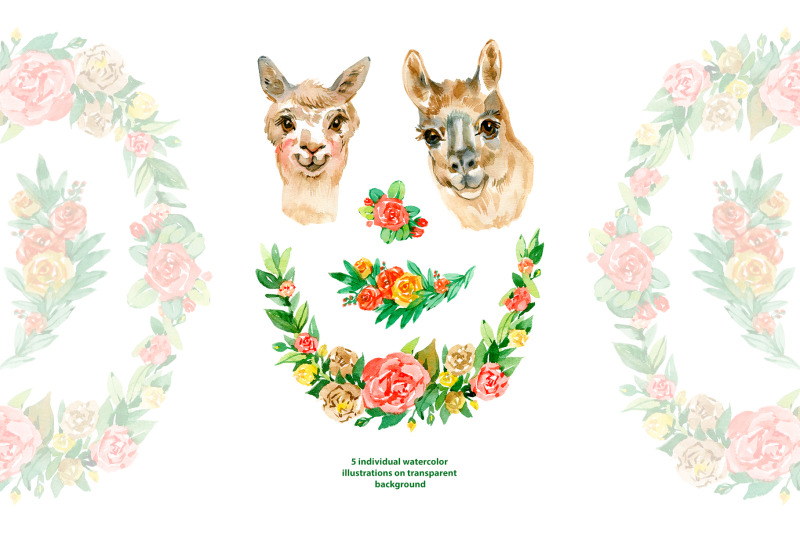 watercolor-llama-couple-clipart