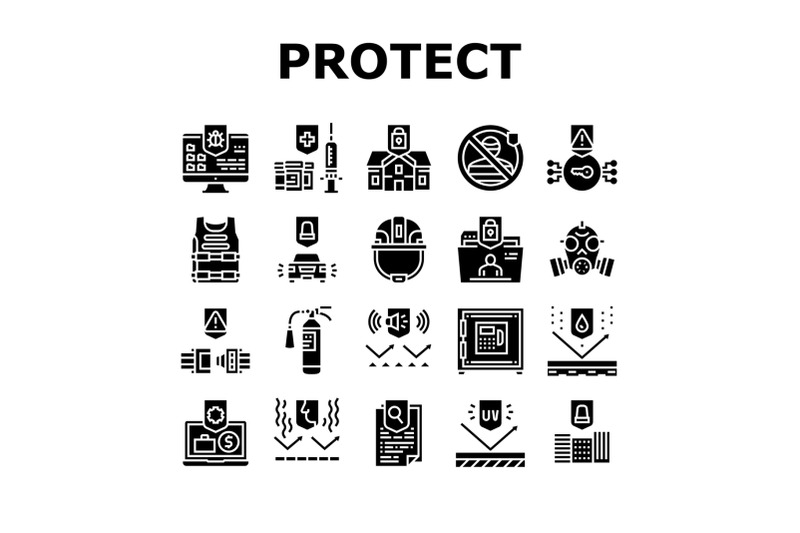 protect-technology-collection-icons-set-vector-illustration