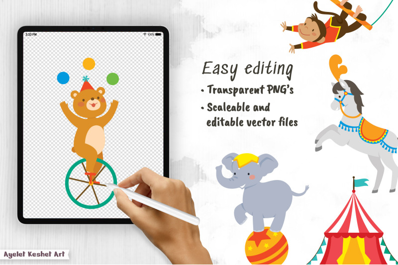circus-clipart-bundle-graphics-patterns-and-templates