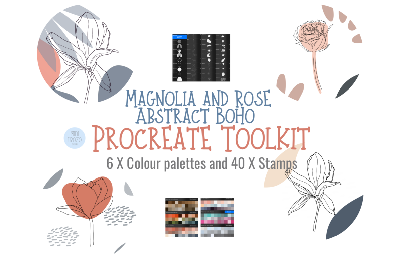 boho-abstract-magnolia-amp-rose-procreate-stamp-brushes-x-40-and-palette