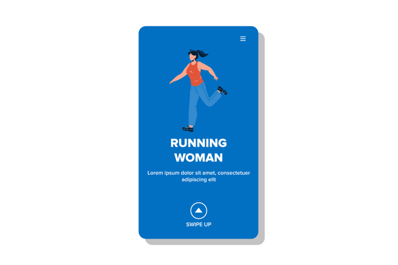 running-woman-exercising-for-loss-weight-vector