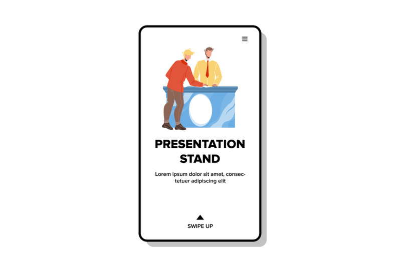 presentation-stand-consultant-talk-with-client-vector