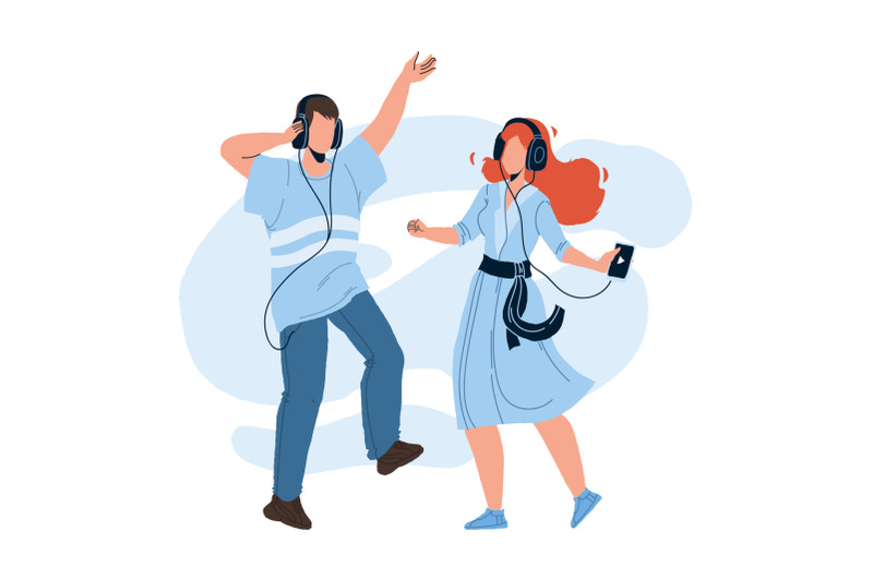 people-couple-listening-music-and-dancing-vector