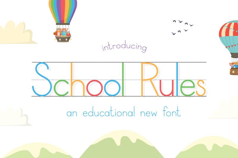 school-rules-font-teacher-fonts-school-fonts-learning-fonts